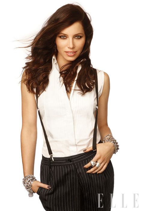 PHOTOS: Jessica Biel Goes Biker Babe For ELLE – Dec 2011