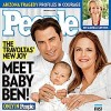 John Travolta, Kelly Preston, and Baby Benjamin