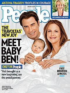 John Travolta and Kelly Preston Show Off Baby Benjamin