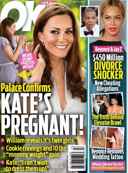 Kate Middleton Pregnant With Twin Girls - Report (PHOTO)