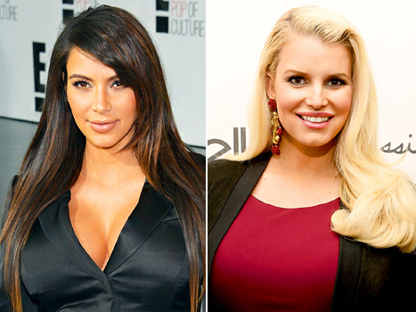 Kim Kardashian and Jessica Simpson Race to Lose Baby Weight