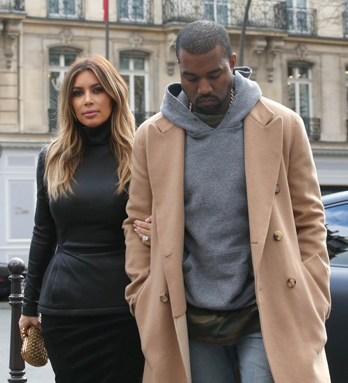 Kim Kardashian & Kanye West Lunch In Paris