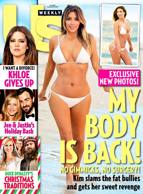 Kim Kardashian Heavily Photoshopped In Us Weekly Bikini Cover