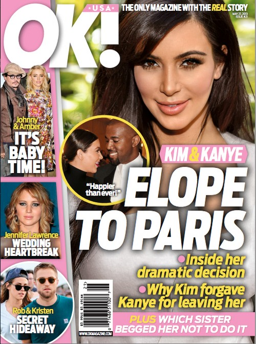 Kim Kardashian & Kanye West Are Eloping In Paris