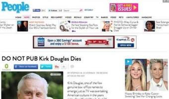 Kirk Douglas Died….OH! WAIT…No He Didn't