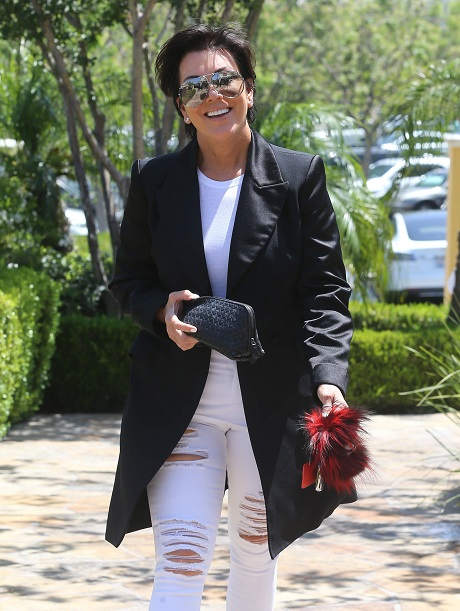 Kris Jenner Is All Smiles In Calabasas