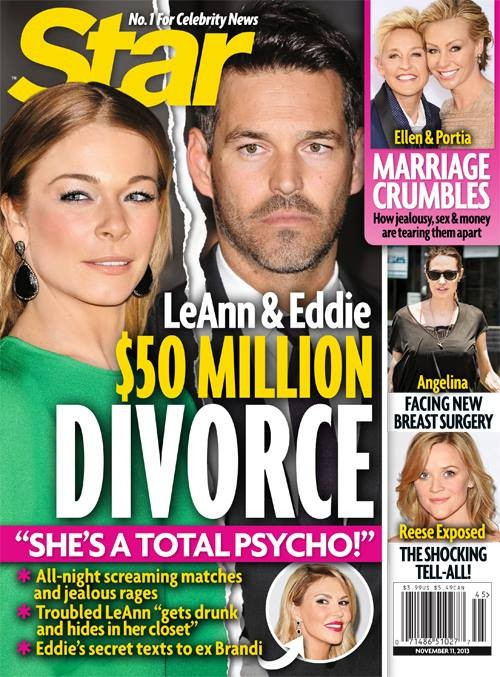 Eddie Cibrian And LeAnn Rimes Going Through $50 Million Divorce