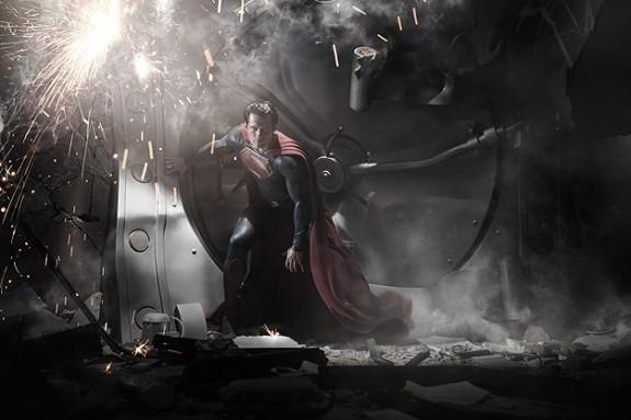 Hanry Cavill as 'Man of Steel'