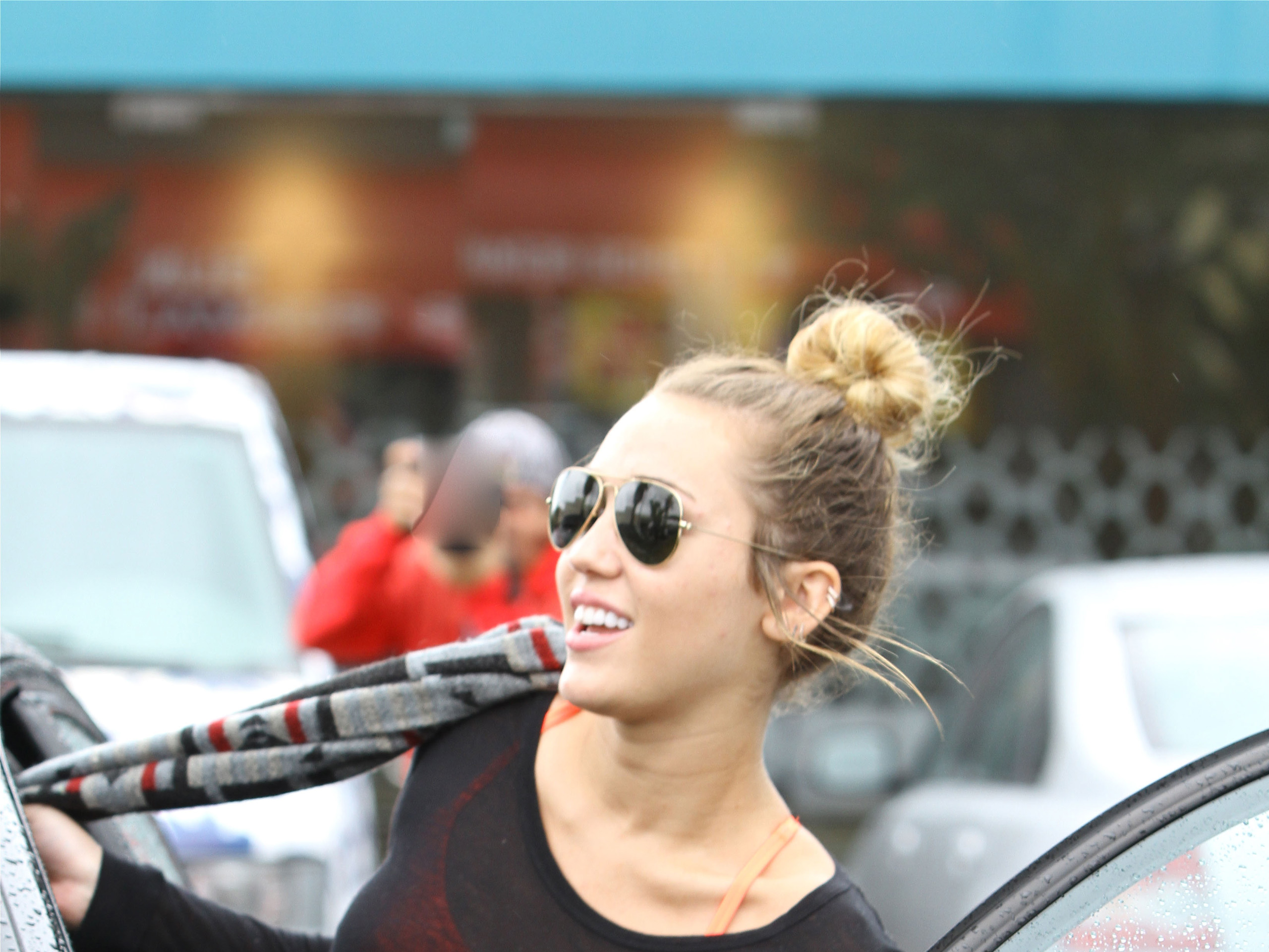 miley cyrus gym hollywood