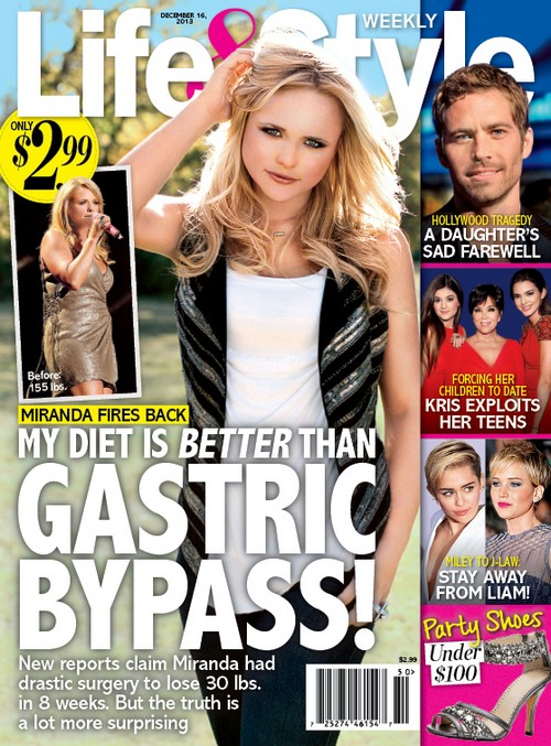 Miranda Lambert Denies Gastric Bypass Surgery For Weight Loss (PHOTO)