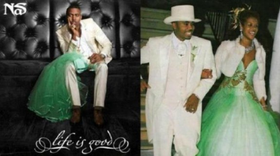 Nas&#8217; Album Cover Shows Wedding Dress That Kelis Left Behind