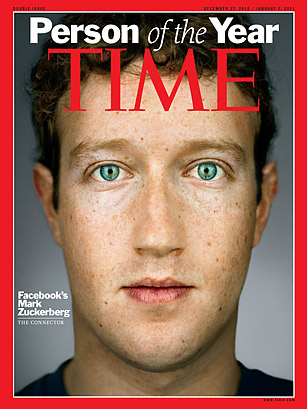 Mark Zuckerbeg is TIME Person of the Year 2010