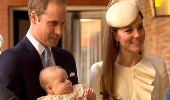 Prince William, Kate Middleton and Prince George Arrive At Church For Royal Christening (PHOTOS)