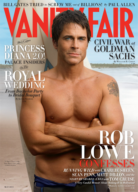 Rob Lowe Covers Vanity Fair – May 2011