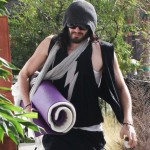 Russell Brand Offers Homeless Man Food and A Shower After Attending Yoga Class