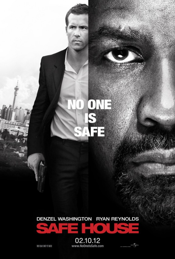 Denzel Washtington and Ryan Reynolds: New 'Safe House' Poster