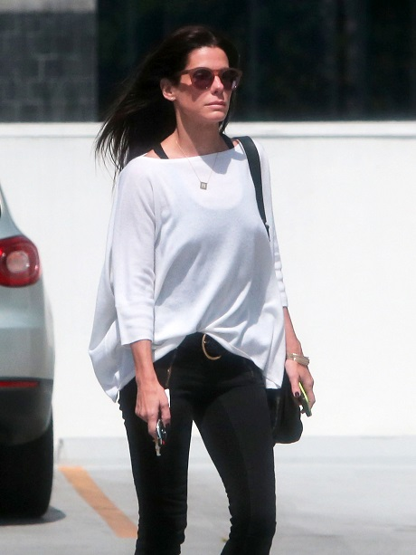 Exclusive... Sandra Bullock Has A Lunch Meeting In Beverly Hills