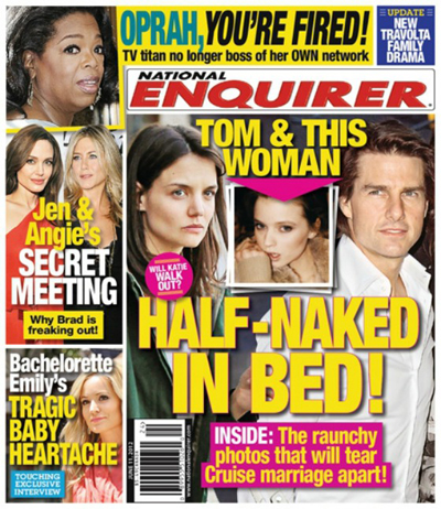 Tom Cruise Caught In Bed With Another Women (Photo)