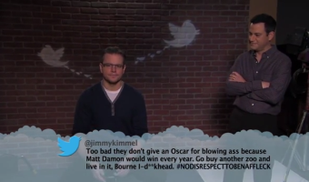 "George Clooney and Jennifer Garner Read ""Mean Tweets"": Has Jimmy Kimmel ""Mean Tweets"" Gone Too Far? (VIDEO)"