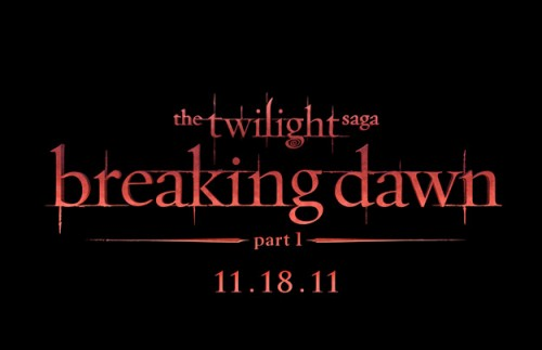 Twilight Saga: Breaking Dawn Part 1 &#8211; Title Treatment Revealed!
