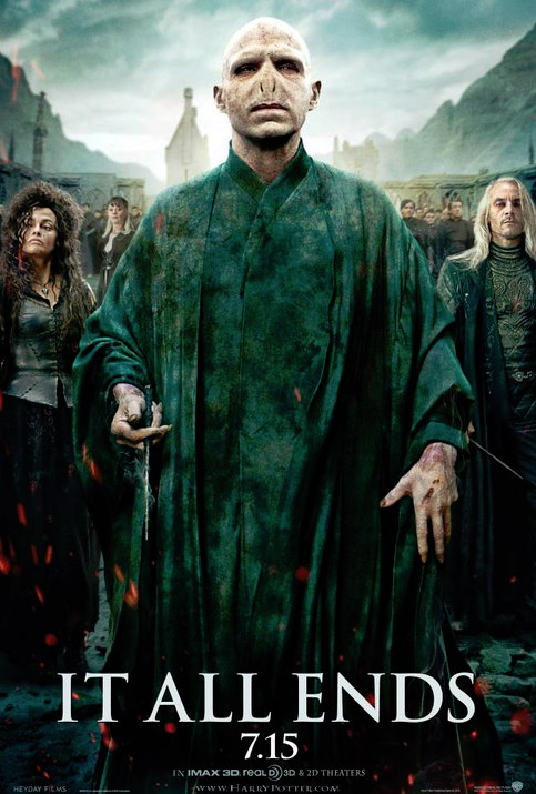 NEW POSTER: 'Harry Potter and the Deathly Hallows 2′ Lord Voldermort and His Death Eaters