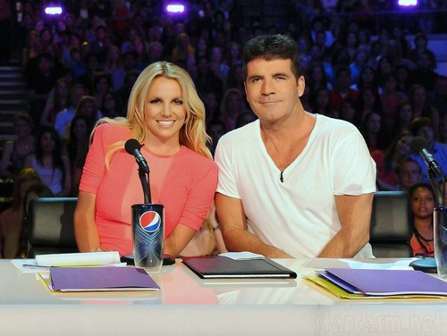 X factor simon cowell britney spears