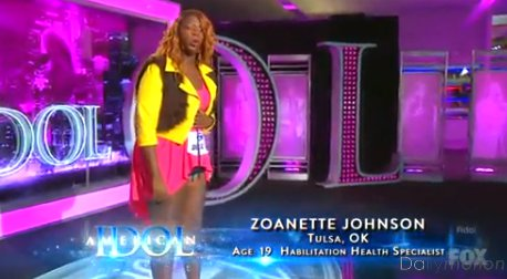 Zoanette Johnson Sings National Anthem With A Dash Of Crazy On American Idol