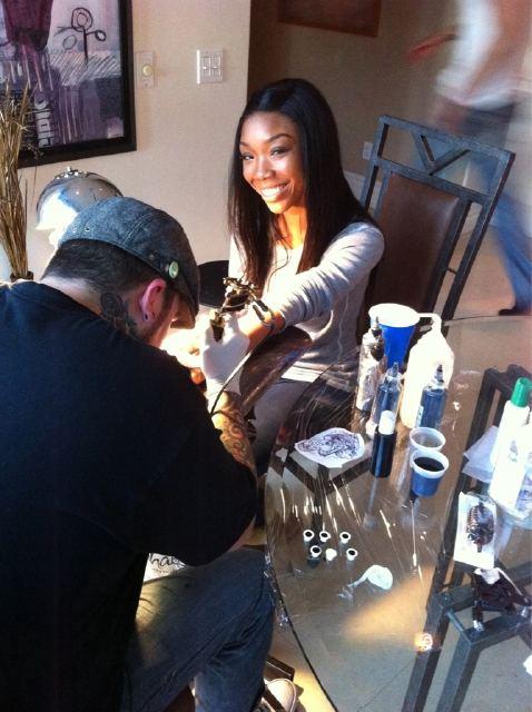 Brandy Getting a Tattoo