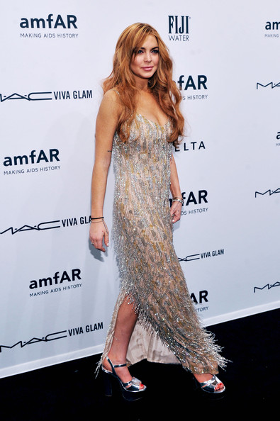 Lindsay Lohan Tried To Make A Designer Dress Better, But Ruined It