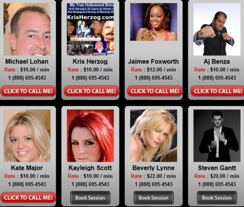 Got $1,000 to Waste? You Can Speak To Dina Lohan, Michael Lohan and more…