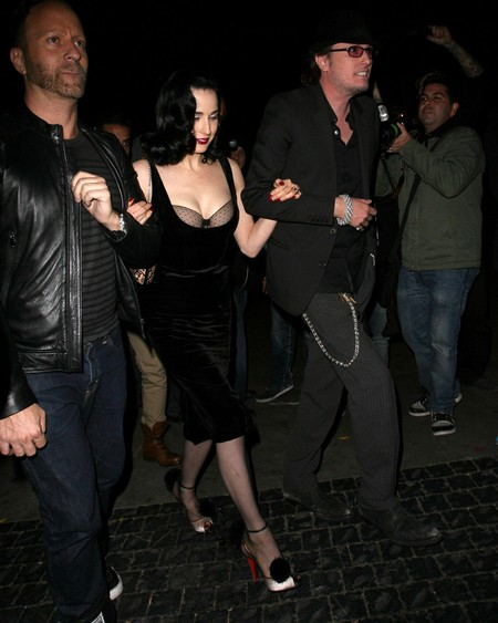 Dita Von Teese Enjoys A Night Out At Bar Marmont