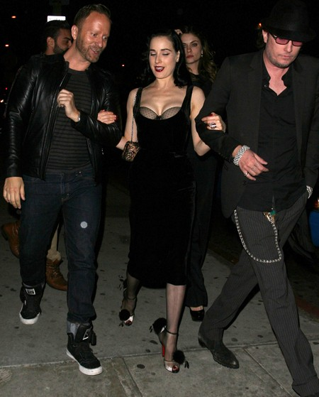 Dita Von Teese Enjoys A Night Out At Bar Marmont