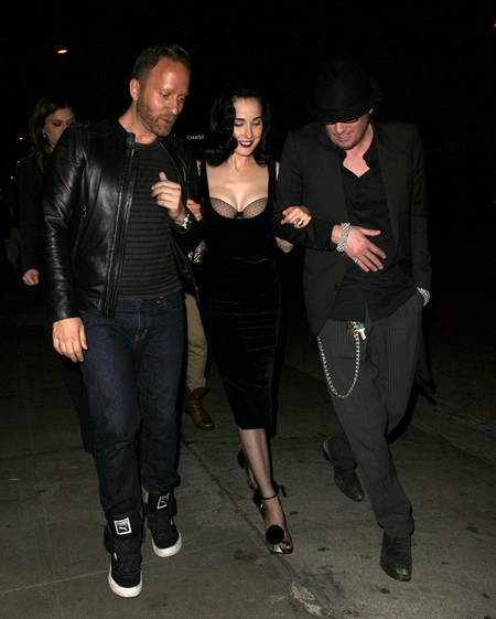 Dita Von Teese Is Boobilicious During A Night Out At Bar Marmont (Photos)