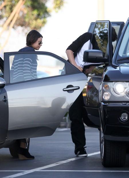 """Mila Kunis and Ashton Kutcher Out to See """"Batman"""""""