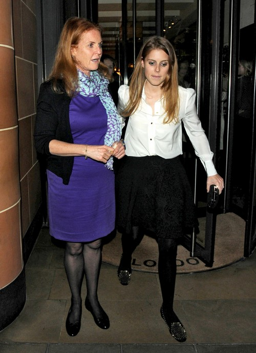 Sarah Ferguson & Prince Andrew Take Princess Beatrice Out In London