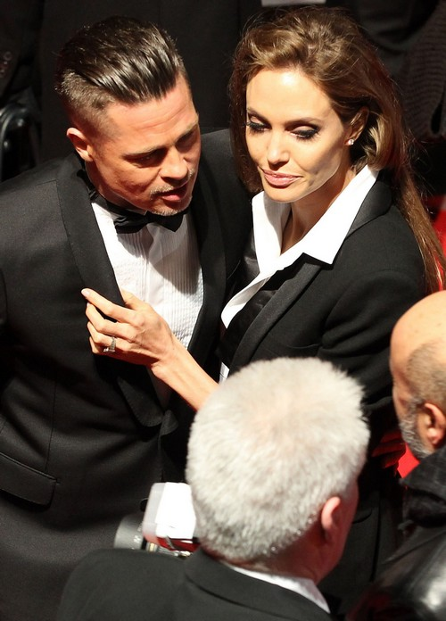 Brad Pitt & Angelina Jolie Attend The EE British Academy Film Awards 2014
