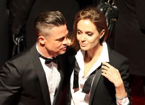 Brad Pitt & Angelina Jolie Attend The EE British Academy Film Awards 2014