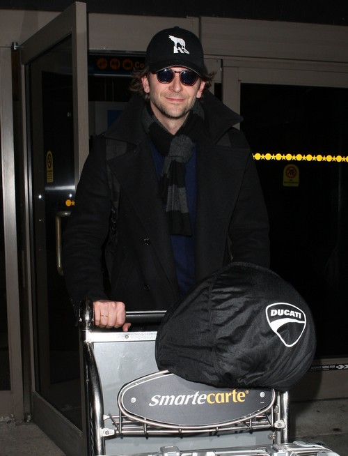 Bradley Cooper Arriving On A Flight At LAX