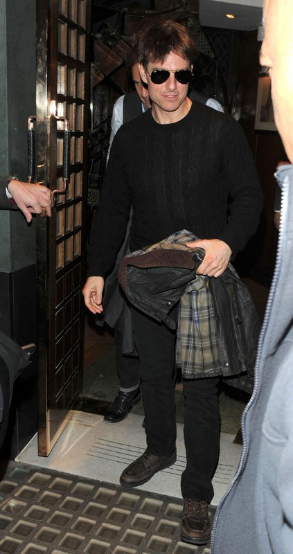 Tom Cruise Dines with a Friend at Ivy in London