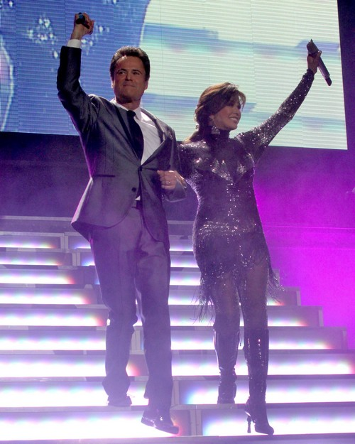Donny And Marie Osmond Perform At The Echo Arena