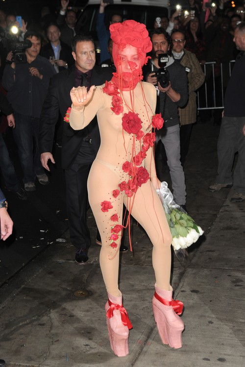 Birthday Girl Lady Gaga Arrives At Roseland Theater