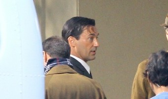 "Jon Hamm Spotted On the set of ""Mad Men"" (Photos)"