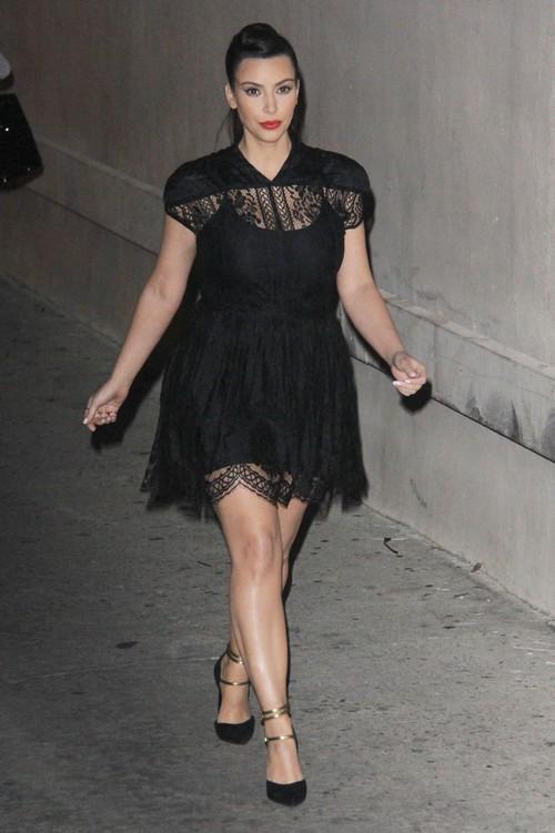 The Kardashian's Stop By Jimmy Kimmel Live
