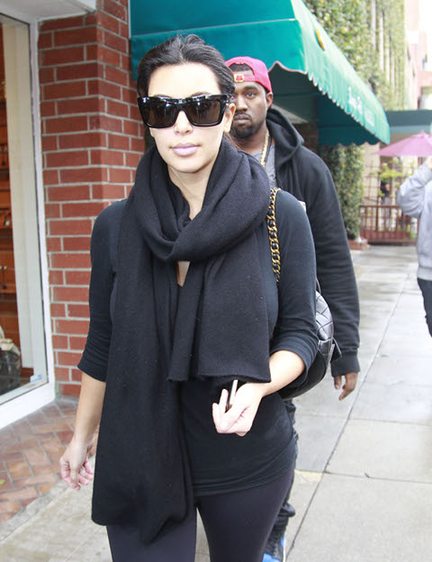 Kim Kardashain Scared Baby Will Turn Out Like Her, Refuses Baby Reality TV Show