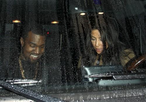 Kim & Kanye Dine Out At Spago Restaurant