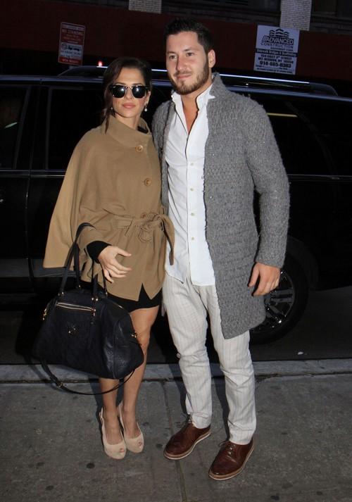 Kelly Monaco & Val Chmerkovskiy Arrive At The Wendy Williams Show