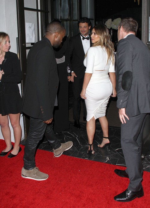 Kim Kardashian and Kanye West at The Dream For Future Africa Foundation Gala in LA