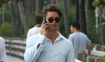 Eye Candy Alert: Patrick Schwarzenegger Chilling In Miami (PHOTOS)