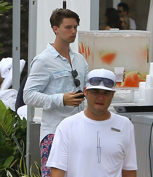 Patrick Schwarzenegger Hanging Out In Miami