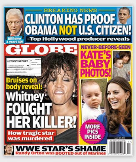 Globe Magazine: Bruises Reveal Whitney Houston Fought Her Killer!